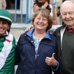 La Paquita owners and Jockey Eurico Rosa da Silva